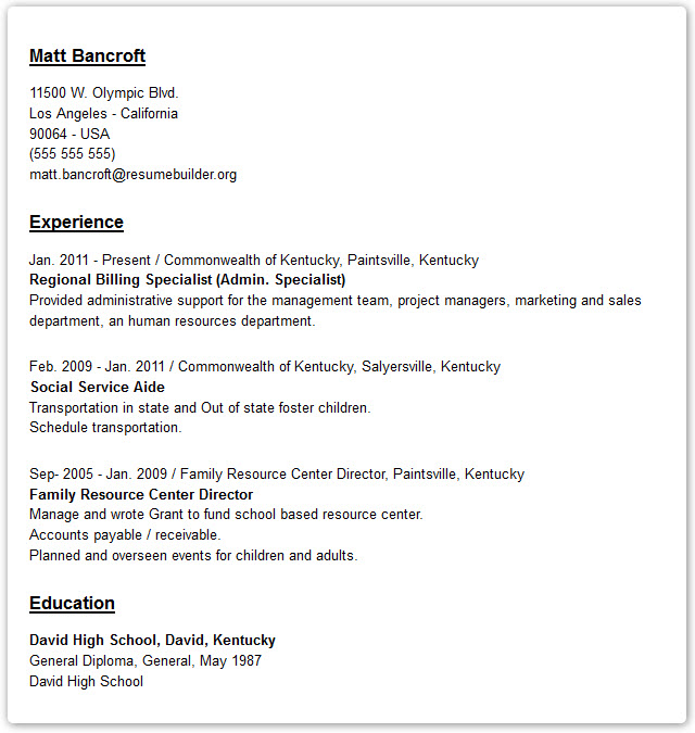Resume Examples - Resume Builder With Examples And Templates To