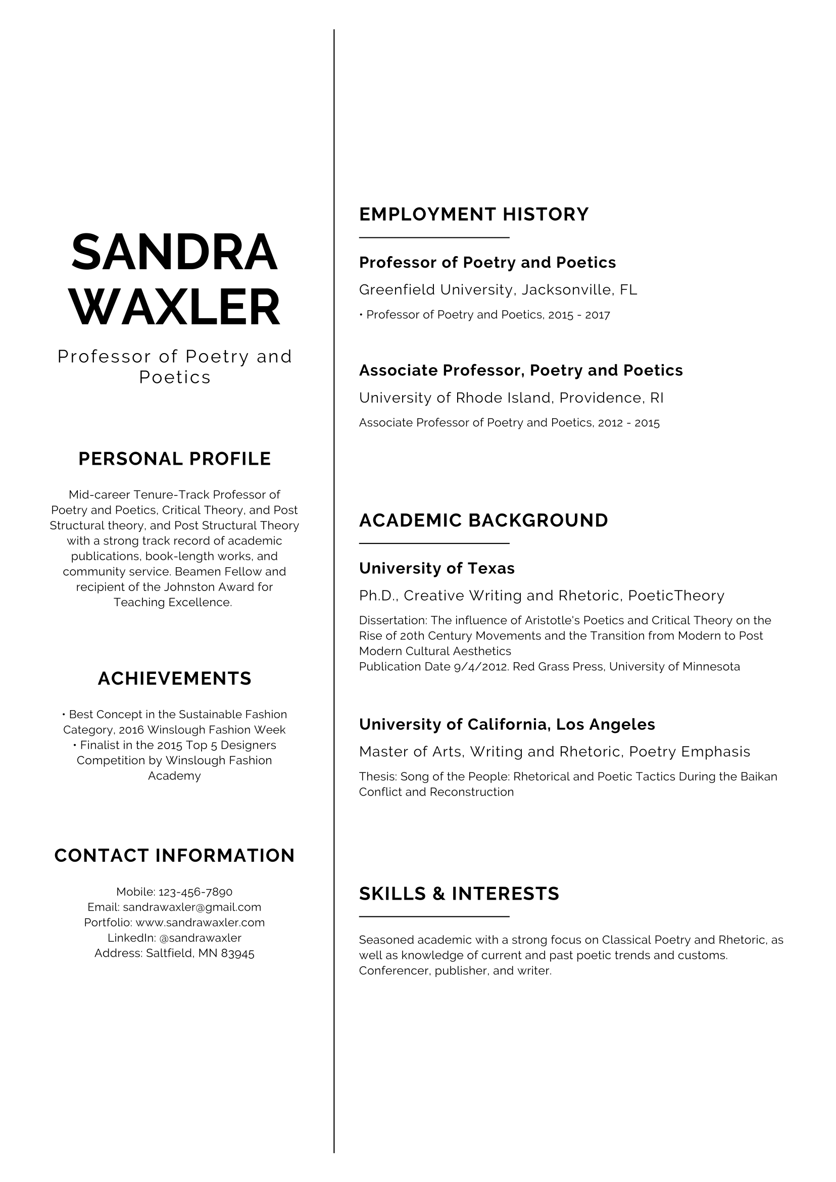 Cv Templates Resume Builder With Examples And Templates