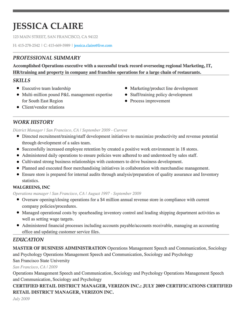Best Free Resume Builder Templates 2