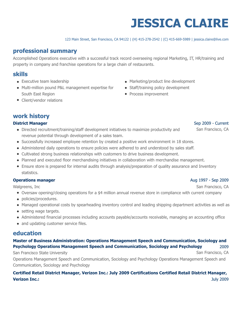 Resume Summary Builder Free Online